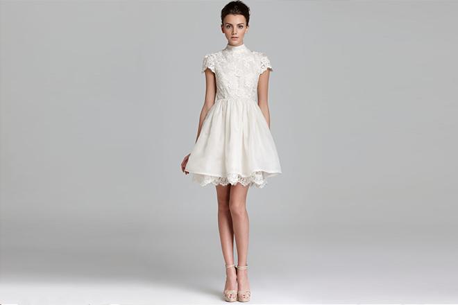 0cm8kjsdpsat6kat - mini beyaz elbise