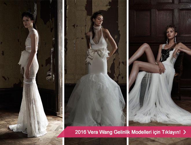 Gotik ve seksi gelinlik modelleri ile Vera Wang 2016 Gelinlik Kreasyonu.