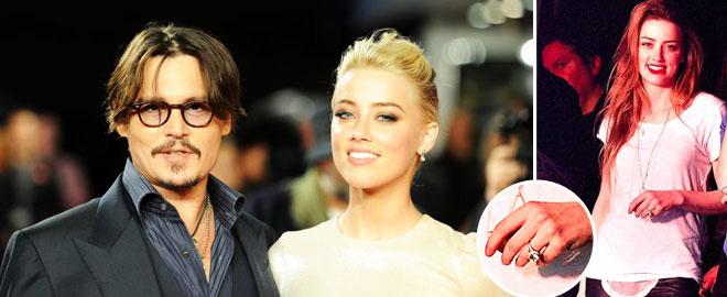 Ünlü oyuncu Johnny Deep ve nişanlısı Amber Heard