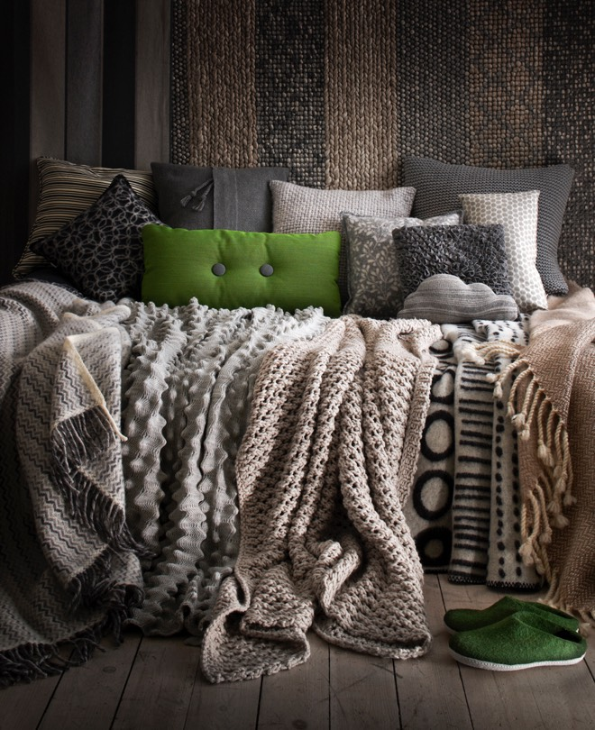 ev tekstili, halı ve aydınlatma