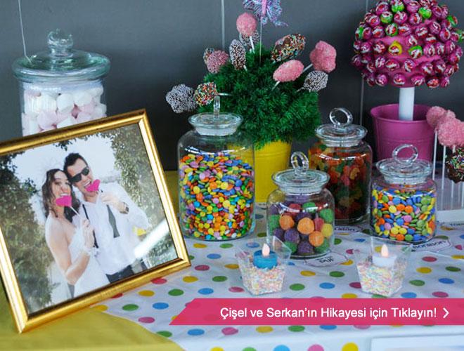 en_tatli_nikah_sekeri - bir Düğün.com çiftinin düğünde kullandığı şeker büfesi