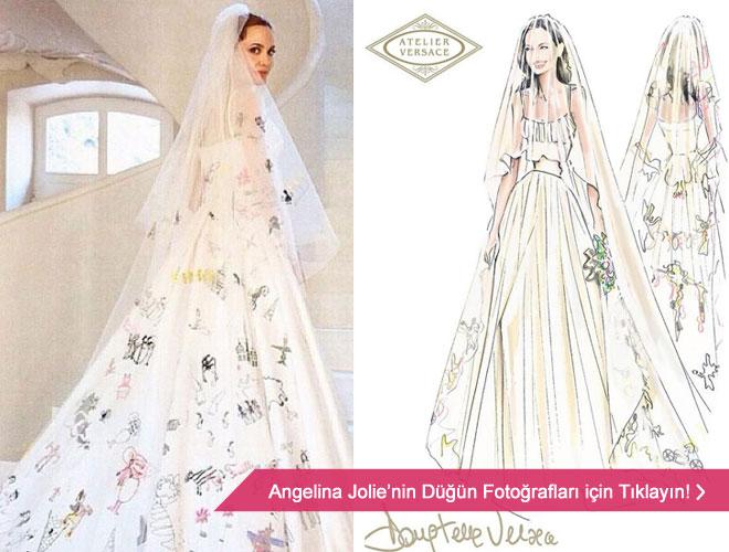 en_sacma_gelinlik - Angelina Jolie'nin gelinliği ve düğün fotoğrafları