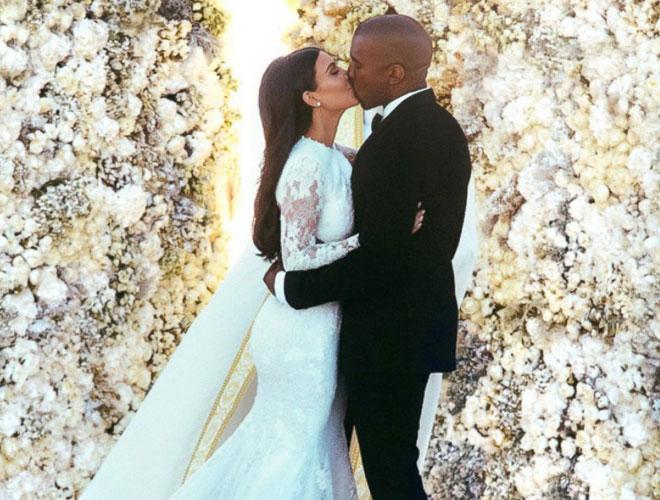en_sasali_dugun - Kim Kardashian - Kanye West düğün pozu