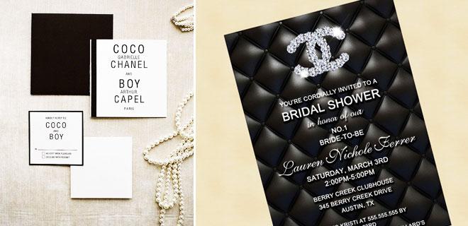 2_chanel_davetiye - Minimalist ve modern çizgileri ile Chanel düğün davetiyeleri