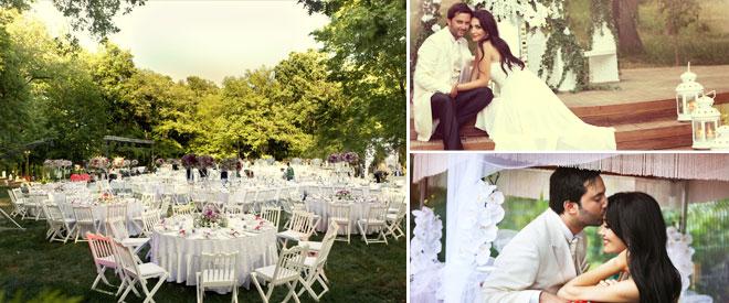düğün mekanı ve gelin damat pozları
