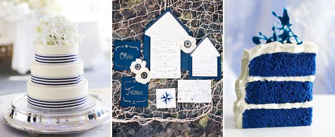 3_akdeniz_pasta - Mavi beyaz deniz temalı düğünlerde davetiye ve pasta örneği