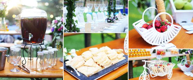 kır düğünü konsepti düğün şeker büfesi