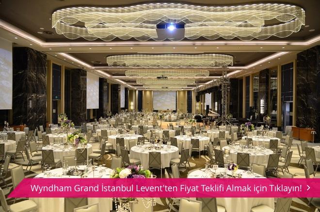 5tiffdaxjrckhbwx - Wyndham Grand İstanbul Levent balo salonu ve masa düzeni.