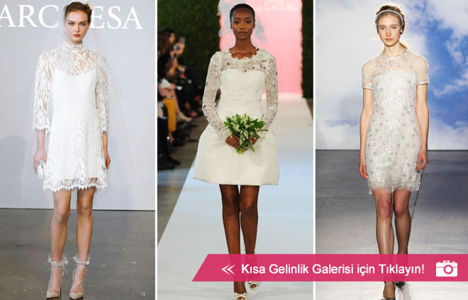 2015 gelinlik modası ve kısa gelinlik modelleri