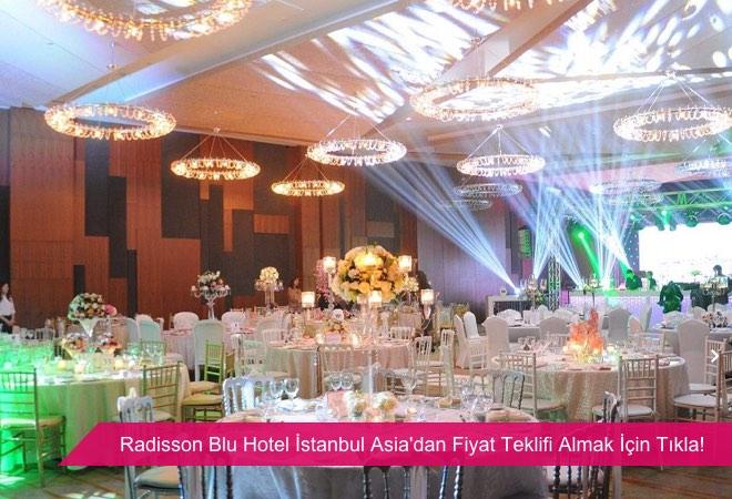 Radisson Blu Hotel İstanbul Asia, açık ve kapalı düğün mekanı.