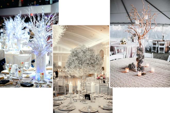 kış düğünü süslemeleri