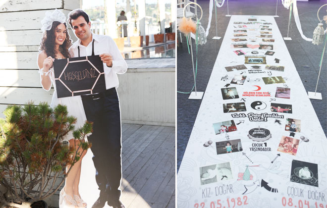 deniz temalı gerçek bir düğün hikayesi: çisel ve serkan