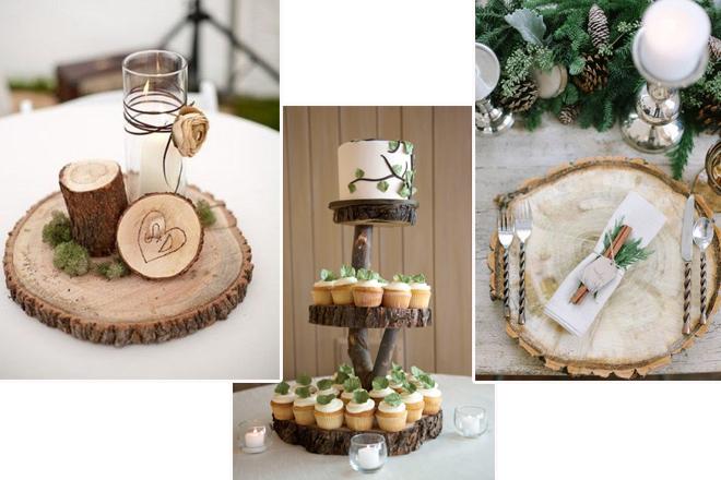 rustik temalı düğün