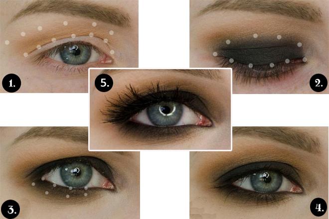 mavi göze buğulu gelin makyajı