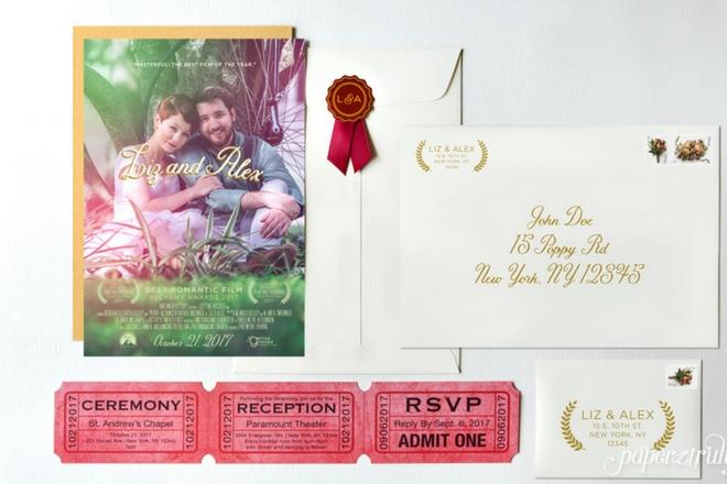 nfrnrathapipolsy - temalı düğün davetiyeleri
