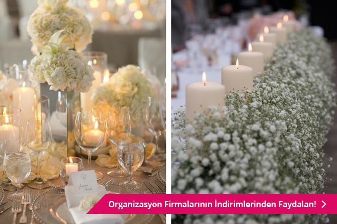 düğün masa süslemesi nasıl yapılır?