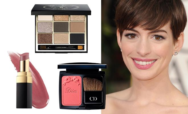 anne_hathaway_makyaj - Gelin makyajı örneklerinden doğal ve şık Anne Hathaway makyajı