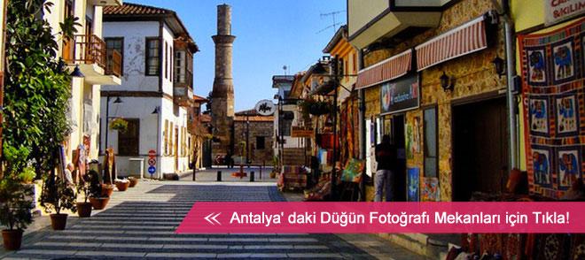 Antalya düğün fotoğraf çekimleri için alternatif mekanlar listesi