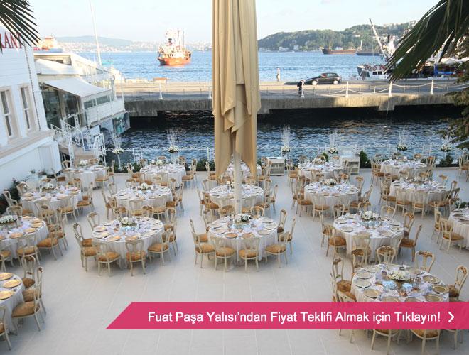 Fuat Paşa Yalısında deniz manzaralı düğün