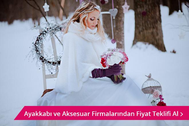 kış düğünleri için gelin aksesuarları