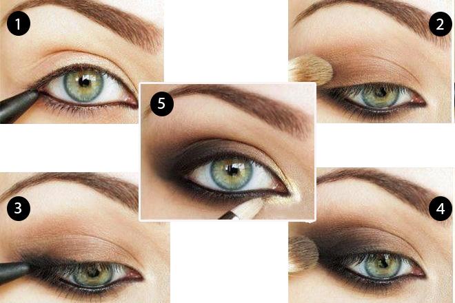 Yeşil Gözlüler için Dumanlı Göz Makyajı