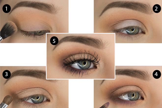 Yeşil Gözlüler için Doğal Göz Makyajı