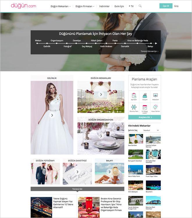anasayfa - düğün.com nasıl kullanılır?