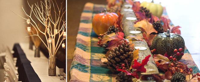 kış düğünü masa ışıklandırma ve kozalak süslemeleri