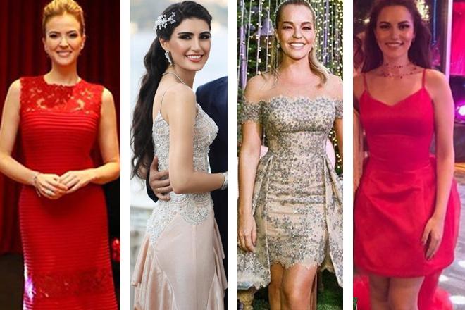 ünlülerin kına elbiseleri