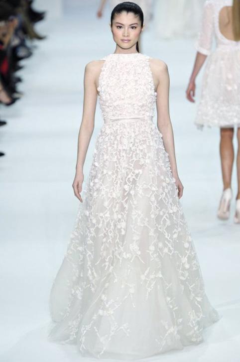 elie saab spring 2012 couture looks - paris moda haftası'ndan gelinlikler