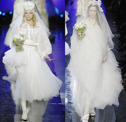 jean paul gaultier - paris moda haftası'ndan gelinlikler