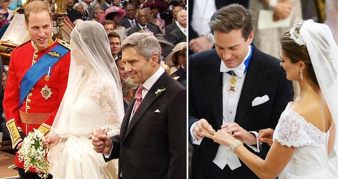 k4 - iki kraliyet düğünü arasındaki 5 benzerliği bulun