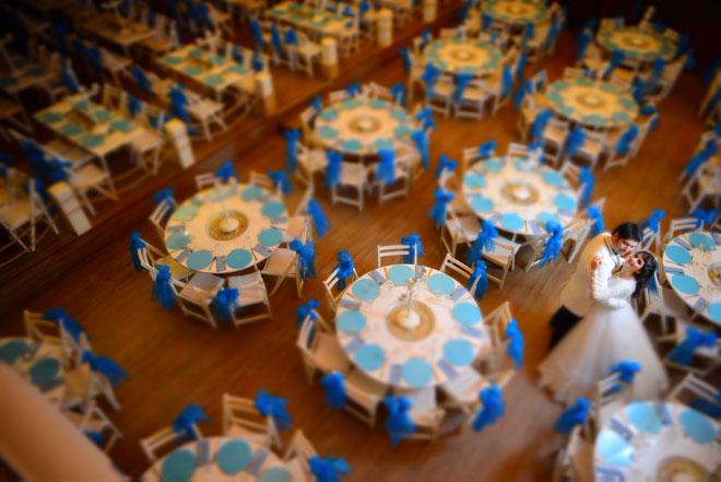 Düğün mekanına aşık olmak