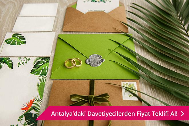 Antalya davetiye fiyatları