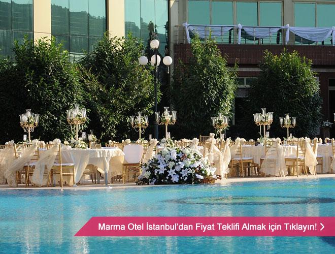 marma_otel_dugun - Havuz başı düğün seçeneği için mekan düzeni