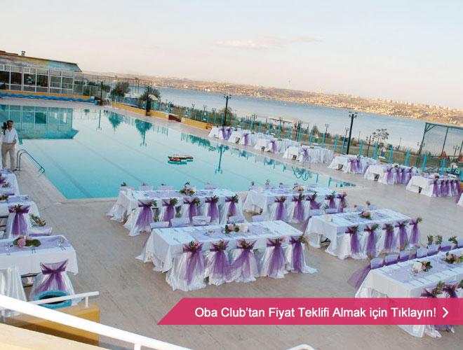 oba_club_dugun - Havuz başı düğün mekanı masa düzeni ve konsept örneği