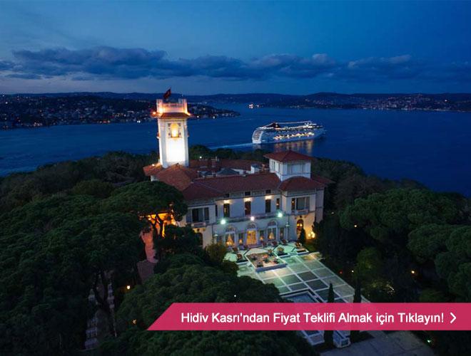 hidriv_kasri - Boğaz ve orman manzaralı tarihi bir düğün mekanı