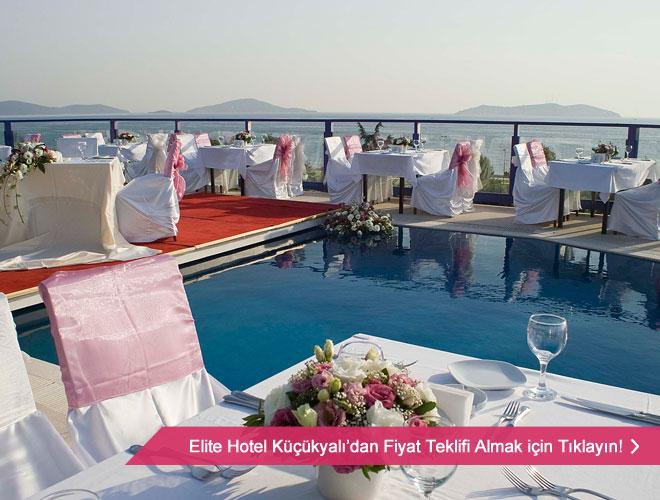 elite_hotel_kucukyali - Deniz manzaralı düğün mekanlarından masa örneği