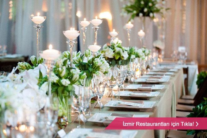 restoranlar - Süsleme detayları ve çiçek seçimi