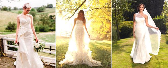 gelinlik - kır düğünleri için 7 stil Önerisi