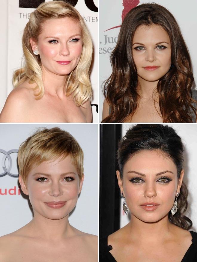 yuvarlak yüz tipine uygun gelin saçı modelleri
