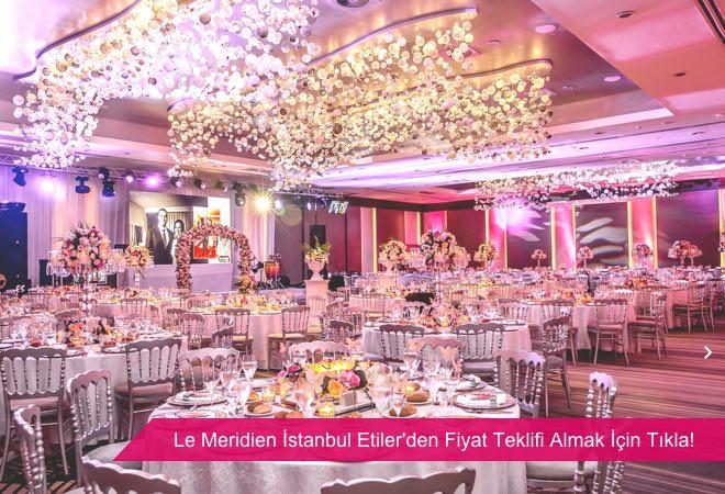 Le Meridien İstanbul Etiler, boğaz manzaralı kapalı balo salonu.