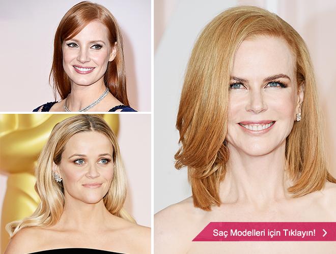 aciksac - Kırmızı halıda açık saç modelleri ile ünlüler.
