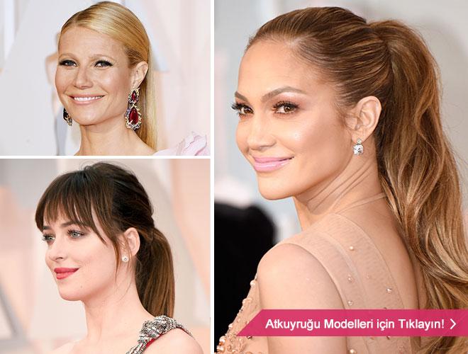 atkuyrugu - Gwyneth Paltrow ve at kuyruğu saç modelleri.