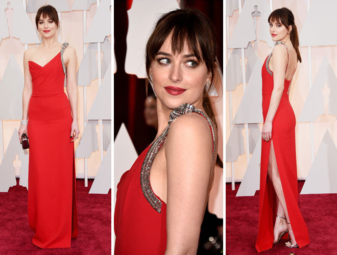 kirmizin - Saint Laurent ve kırmızı abiye elbisesi.