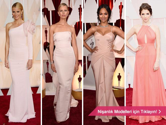pembeabiyeler -  Oscar töreninden nişanlık modelleri için ilham kaynağı olacak pembe abiye modelleri.