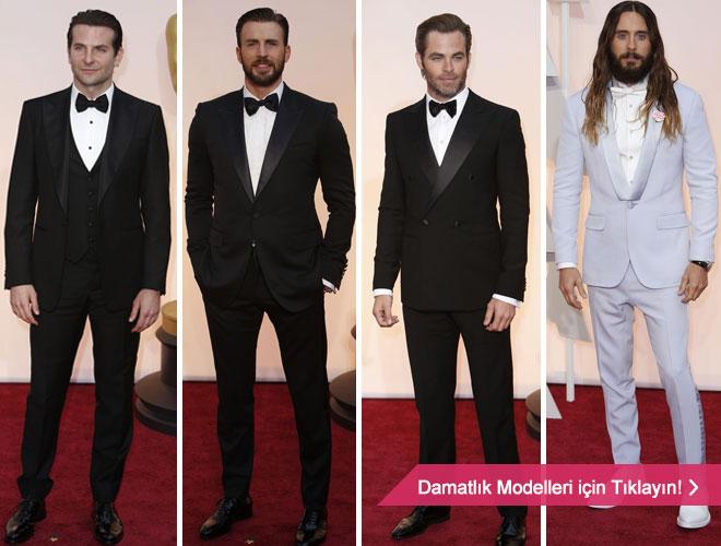 smokin - Oscar töreninden stil sahibi damatlara smokin modelleri.