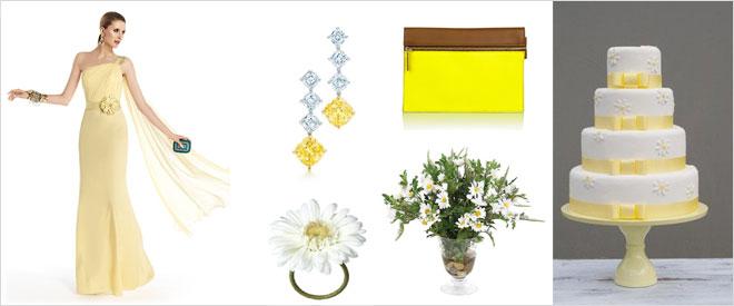 papatya sarisi - sarı nişanlık elbise modelleri