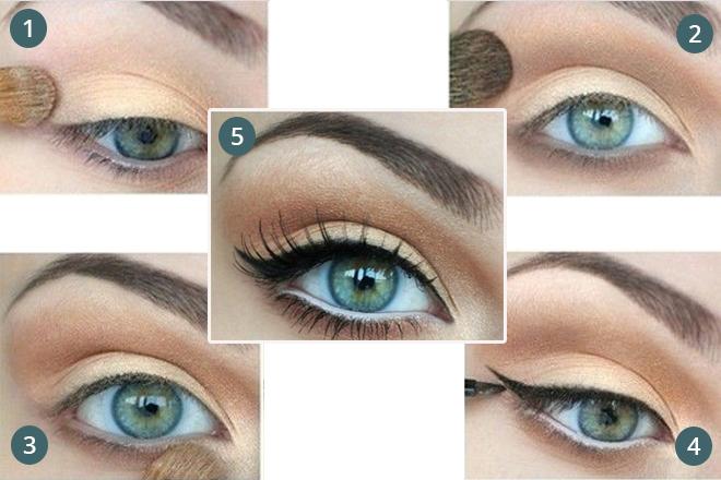 mavi göze doğal makyaj nasıl yapılır