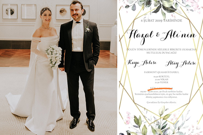 Hazal Kaya düğün Davetiyesi